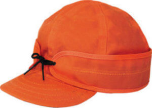 Stormy kromer waxed cotton cap - orange