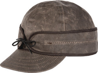 Stormy kromer waxed cotton cap - brown